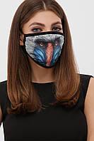 Текстильная маска на лицо с рисунком