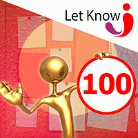 Размещение 100 позиций на доске объявлений Let-Know на 1 месяц
