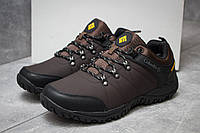 Мужские кроссовки в стиле Columbia Waterproof, коричневые 41 (стелька 25,5 см)