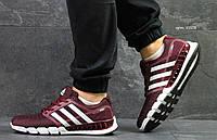 Мужские кроссовки в стиле Adidas, бордовые 44(28 см), последний размер