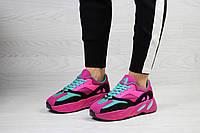 Женские кроссовки в стиле Adidas x Yeezy Boost 700 OG, фиолетовые с розовым 38(24,5 см), размеры:38,39,41