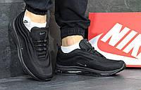 Мужские кроссовки в стиле Nike Air Max 97, черные с серым 45 (28,5 см)