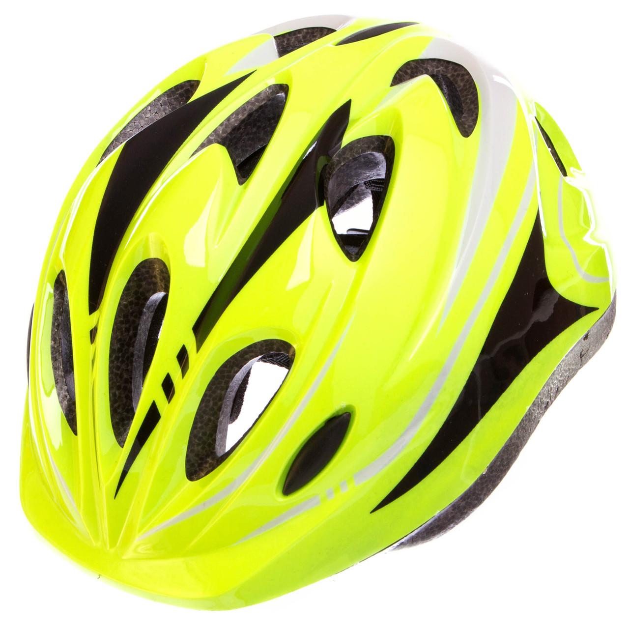 Шлем защитный с механизмом регулировки (L-54-56) SK-5611, салатовый