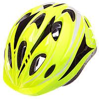 Шлем защитный с механизмом регулировки (L-54-56) SK-5611, салатовый, фото 1