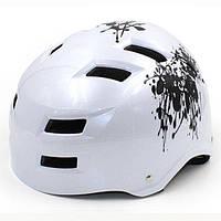 Шлем для ВМХ,Skating,Freestyle и экстремального спорта белый MTV01 M(55-58)