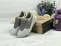 Женские кроссовки в стиле Asics, бежевые 41(26 см), последний размер