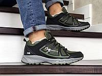 Мужские кроссовки в стиле Columbia Montrail, сетка, кожа, зеленые с черным 44(28 см), размеры:44,45