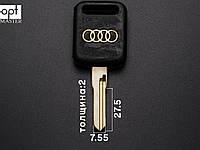 AUDI - HU49 (лого золото) заготовка ключа, фото 1