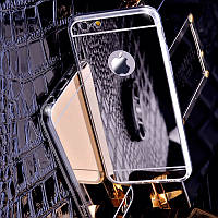 Чехол силиконовый/TPU зеркальный серебряный (хром) для Iphone 6 +/6 plus 5.5 /6S+