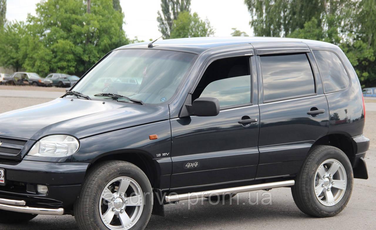 Пороги боковые (подножки-трубы) Chevrolet Niva 2002-2009 (Ø60)