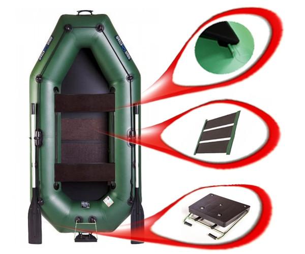 Aqua Storm ST249Pt_Ps - лодка Шторм 249 с ковриком, транцем и подвижными сиденьями