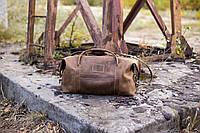 Стильная дорожная сумка кожаная, Сумка спортивная мужская средняя