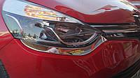 Накладки на передние фонари (нерж.) Renault Clio 4