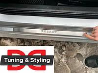 Накладки на дверные пороги Passat B7 OmsaLine тип 1