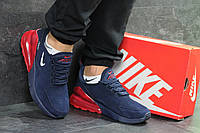 Мужские кроссовки в стиле Nike Air Max 270, синие с красным 44(28,2 см), последний размер