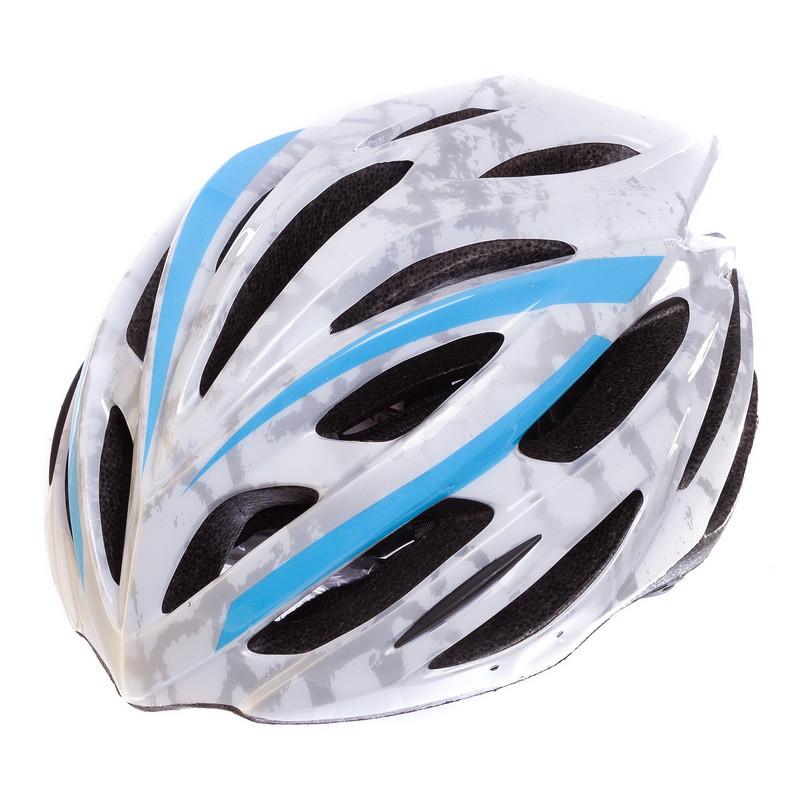 Шлем защитный велошлем с механизмом регулировки Zelart L/M (55-61) белый HB31