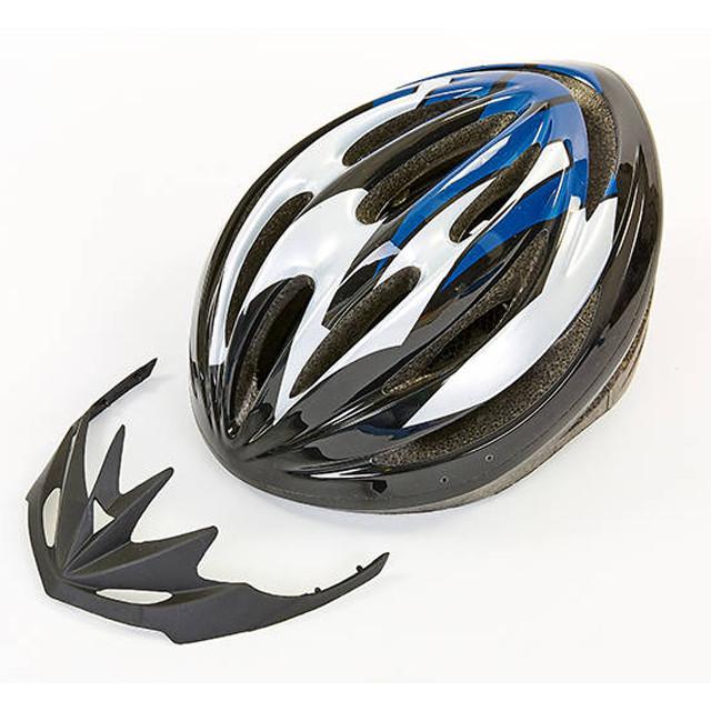 Шлем защитный велошлем с механизмом регулировки черно-синий HB13