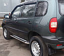 Бічні Пороги (підніжки-майданчик) Chevrolet Niva 2002-2009 (Ø42), фото 2
