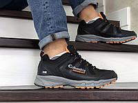 Мужские кроссовки в стиле Columbia Montrail, сетка, кожа, черные с серым 44(28 см), последний размер