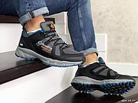 Мужские кроссовки в стиле Columbia Montrail, сетка, кожа, серые с черным 45(28,6 см), последний размер