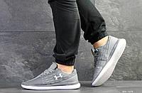 Мужские кроссовки в стиле Under Armour, текстиль, серые 43(27,5 см), размеры:43,44,46
