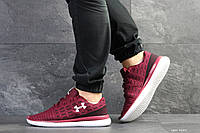 Мужские кроссовки в стиле Under Armour, текстиль, бордовые 45(28,7 см), размеры:45,46