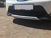 Nissan Qashqai 2014 передняя и задняя накладки из пластика V1