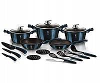 Набор посуды Berlinger Haus Metallic Line AQUAMARINE Edition BH 6164 (17 предметов)