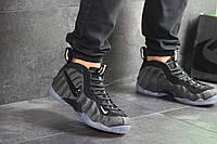 Мужские кроссовки в стиле Nike Air Foamposite Pro, кожа, текстиль, серые 41(26 см), в наличии:41,45,46