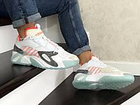 Мужские кроссовки в стиле Adidas Streetball, кожа, замша, разноцветные 42(27 см), в наличии:42,44,45