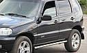 Пороги боковые (подножки-трубы с накладками) Chevrolet Niva 2009+ (Ø60), фото 3