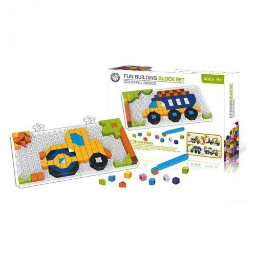"""Розвиваючі іграшки мозаїка """"Будмайданчик"""", 200 деталей 6606-3"""