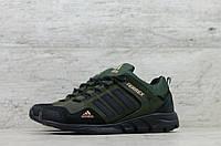 Мужские кроссовки в стиле Adidas, кожа, хаки *** 44(29 см), последний размер