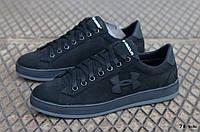 Мужские кроссовки / кеды в стиле Under Armour, нубук, черные *** 40(26 см), размеры:40,41,42,43,44,45