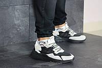 Мужские кроссовки в стиле Adidas Nite Jogger Boost, сетка, замша, бежевые с черным 41(26,1 см)