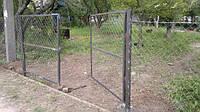 Установка ворот из сетки рабицы