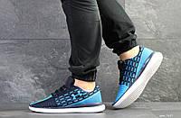 Мужские кроссовки в стиле Under Armour, текстиль, синие с голубым 41(26,5 см), размеры:41,42,44,45,46