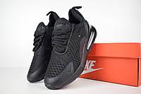 Женские кроссовки в стиле Nike Air Max 270, сетка, ткань, пена, черные 36 (23 см по стельке)