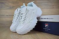 Женские кроссовки в стиле Fila disruptor 2, белые 40(25,5 см), последний размер