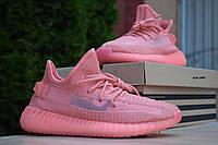 Женские кроссовки в стиле Adidas Yeezy Boost 350, текстиль, коралловые 38(24 см), последний размер