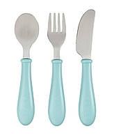 Набор детский - ложка, вилка, нож Beaba - airy green, арт. 913461