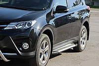 Toyota Rav 4 2013 Боковые пороги Allmond Grey