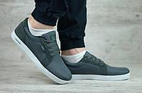 Мужские кроссовки/кеды в стиле Lacoste, текстиль, серые 42(26,5 см), в наличии:42,43,45