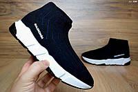 Мужские кроссовки в стиле BALENCIAGA Speed Trainer Low, черные 44(29 см), последний размер