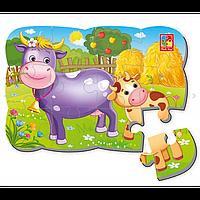 Пазл на магните «Корова и теленок» Арт. VT3205-55