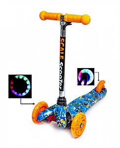 Самокат Детский Mini Best Nemo Со светящимися колесами (SD)
