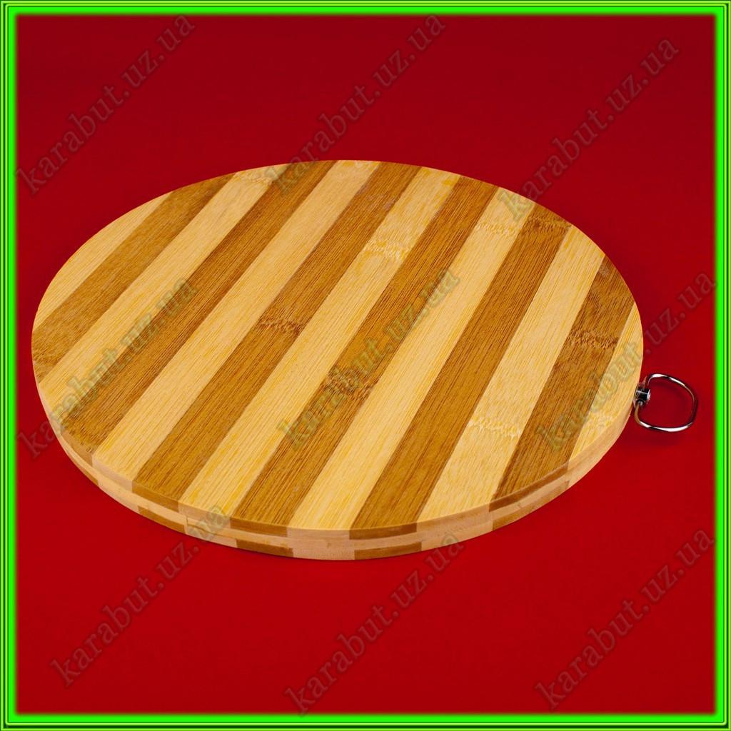 Доска бамбуковая круглая D 25,5 см толщина 1,5см