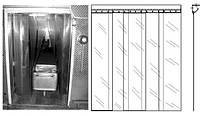 Полосовые ленточные завесы ПВХ лента морозостойкая ребристая 300мм х 3мм