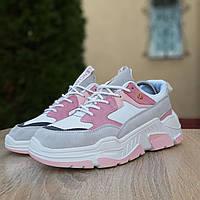 Женские кроссовки в стиле Balenciaga Triple S V2, замша, разноцветные 37(23 см), размеры:37,39,40
