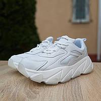 Женские кроссовки в стиле Balenciaga Triple S V2, кожа, белые 37(23 см), размеры:37,38